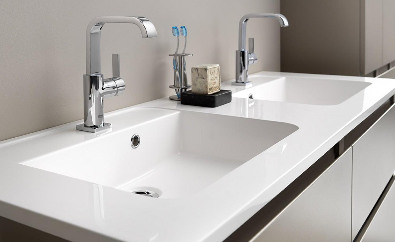 Dubbele wasbak pergamon 070527 ontwerp inspiratie voor de badkamer en de kamer - Gemeubleerde salle de bains ontwerp ...